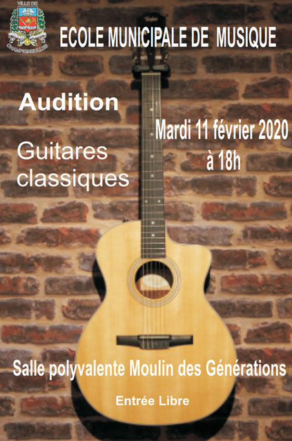 affiche audition guitare