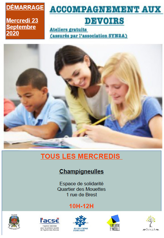 affiche accompagnement devoirs